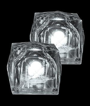 led light up ice cubes white amazon co uk kitchen home