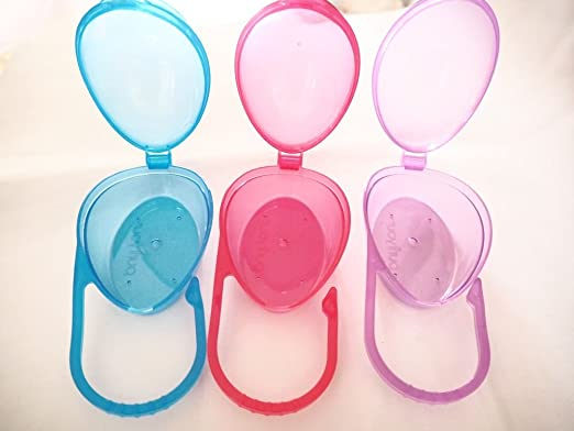 purifyou PurePouch BPA-Free Pacifier Case Holder & Nipple Shield Case for Travel, Set of 3 with Free Mesh Bag
