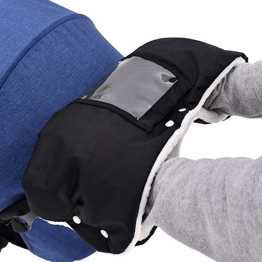learnarmy gants de poussette poussette manchon coupe-vent imperm/éable gants de poussette en molleton corail pour lhiver.