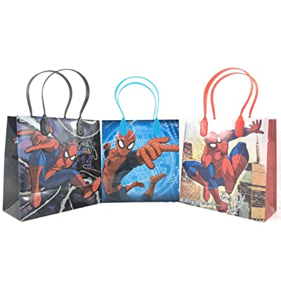 Spiderman Party Favor Goodie Small Gift Bags 12 Pcs: Sports & Outdoors