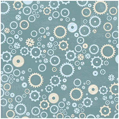 Sprocket Design - KAREN FOSTER Design Scrapbooking Paper, 25 Sheets, Sprockets and Gears, 12 x 12