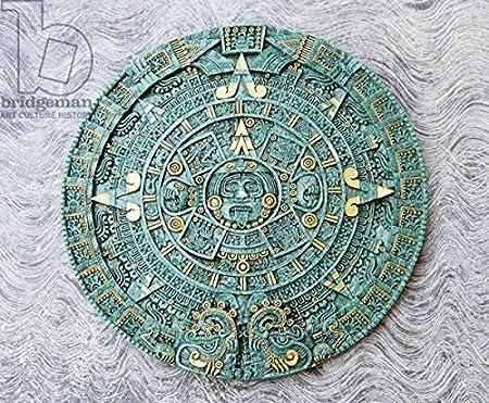 Aztec Calendar Stone.Souvenir Copy Of The Great Aztec Calendar Stone 16th Century