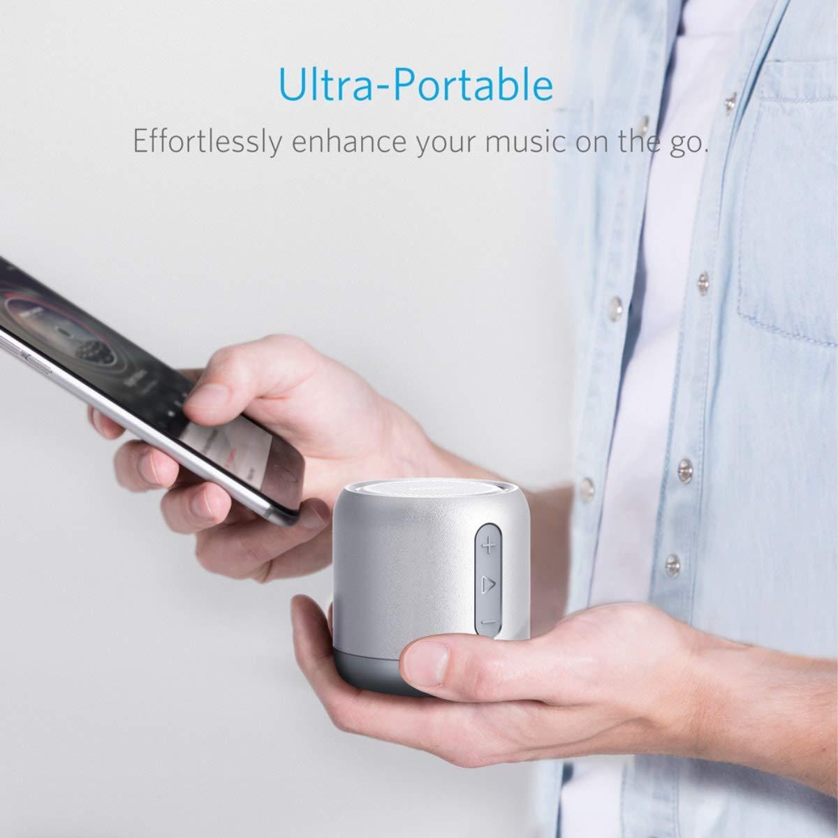 Micro et Basses Renforc/ées Port/ée Bluetooth de 20 M/ètres Port Micro SD Haut Parleur avec Autonomie de 15 Heures Anker SoundCore mini Enceinte Bluetooth Portable