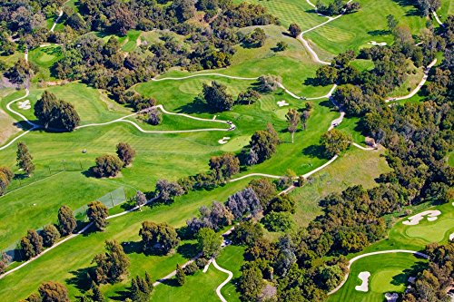 Posterazzi Aerial View Valley Inn Country Club Golf Course in Ventura County Ojai California Poster Print by Panoramic Images (36 x 24) Varies
