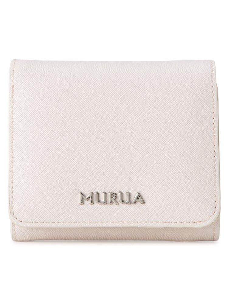 (ムルーア) MURUA 二つ折り財布 MR-W562 配色 B07BK57KPZ ピンク ピンク