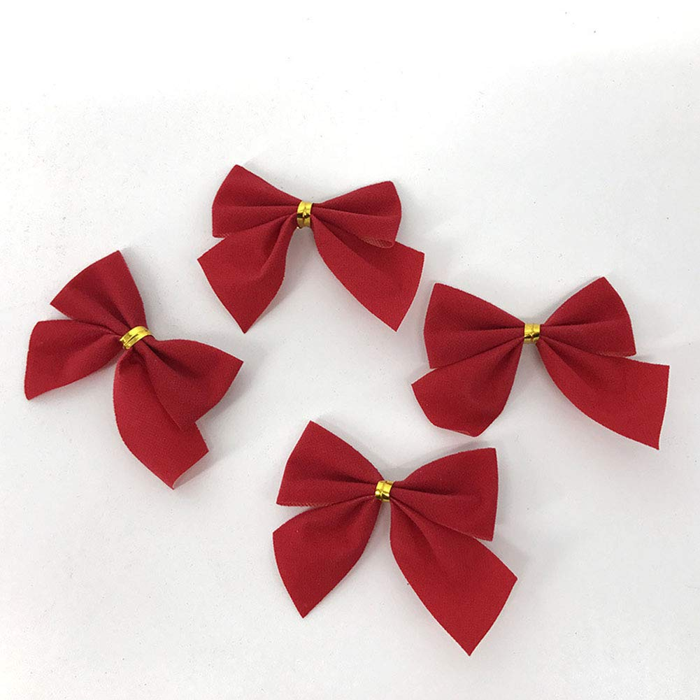 Ornamenti di Natale Abbastanza Arco Cravatta Albero di Natale Ornamenti Natale Ciondolo Tree Decor (Silver) 12 pz Snner