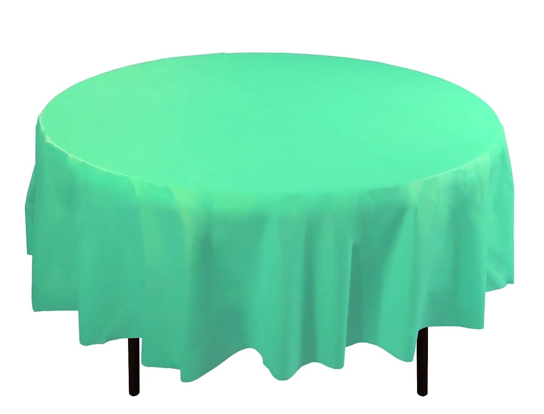 Amazon.com: Exquisite 12 Pack Premium Plastic 84 Inch Round Tablecloth    Aqua Blue: Kitchen U0026 Dining