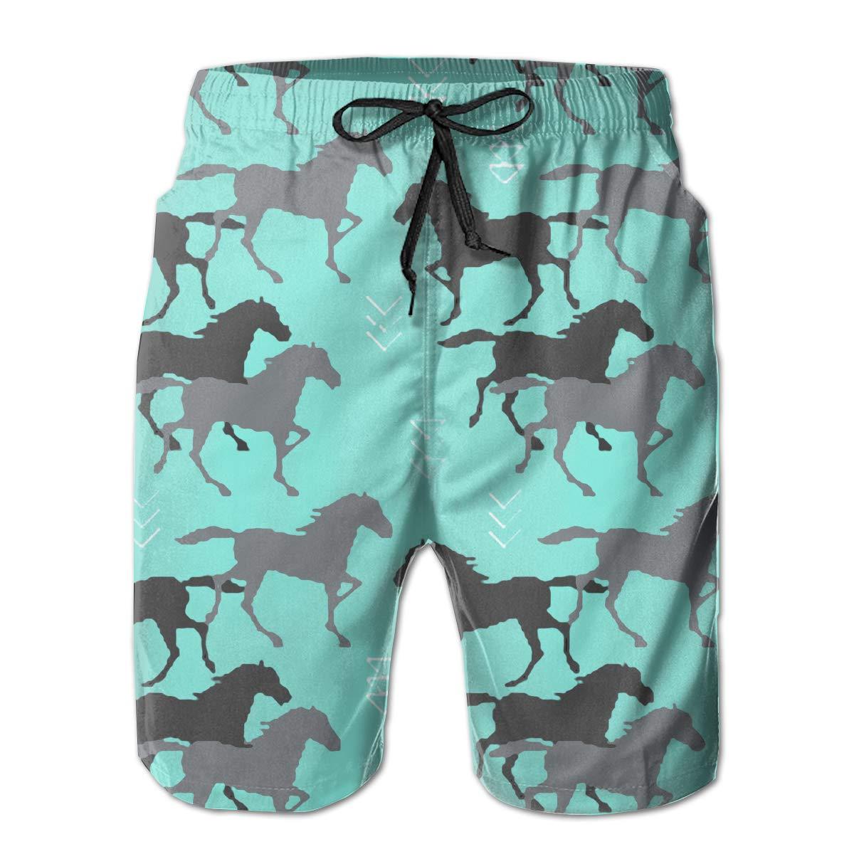 ZORITO Mens Swim Trunks Quick Dry Summer Holiday Beach Shorts with Mesh Lining Merry Christmas Beachwear