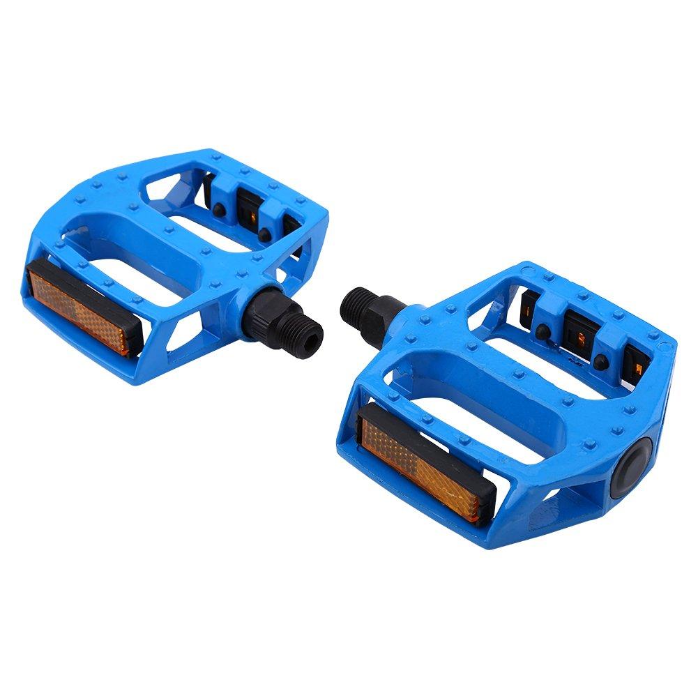 2pcsアルミニウム合金滑り止め自転車ペダル9 / 16インチのマウンテンロードバイク B079L5Q83X ブルー ブルー