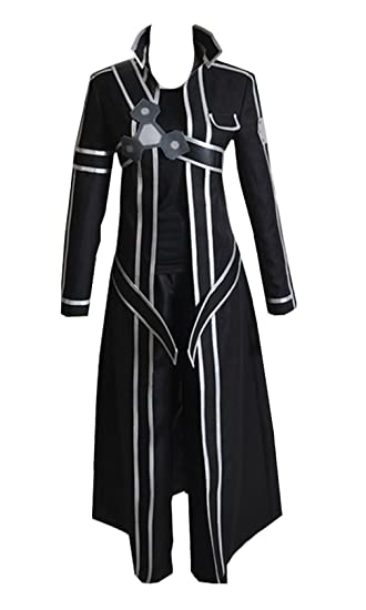 NEW Black SAO Sword Art Online Complete set Cosplay kirito Costume S//M//L//XL