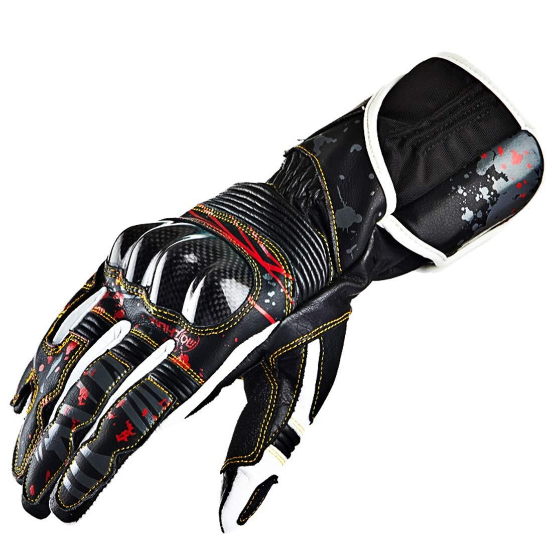 Keriya Sende カーボンファイバーレザーオートバイグローブレーシングナイトグローブクライミングハイキングアウトドアスポーツ用品 (サイズ : XXL) XX-Large  B07RKT3R4N