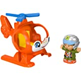 Fisher-Price Little People Helicopter, Toy Vehicle and Figure Set for Toddlers and Preschool Kids Ages 1-5 Years