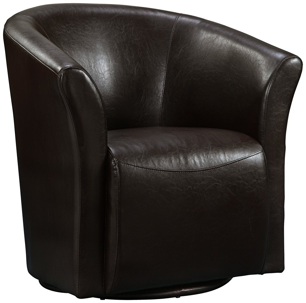 amazon com elements rocket swivel chair in brown kitchen dining