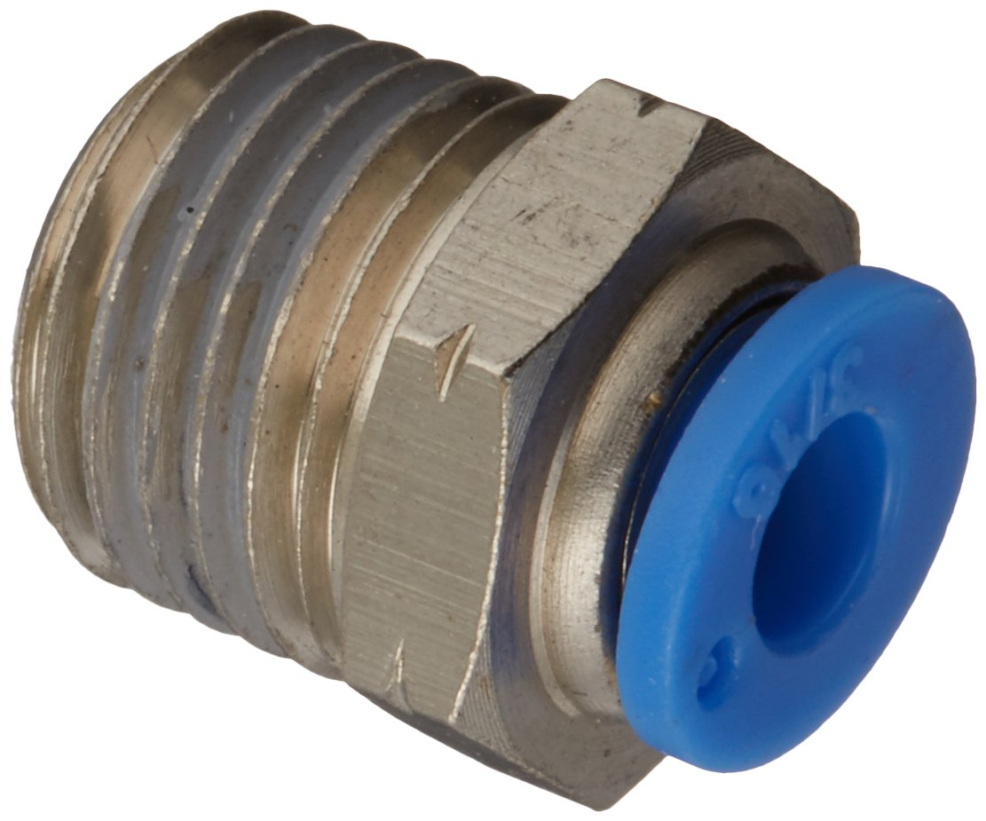 MettleAir MTC 3//8-N04 Push to Connect Straight Male Fitting Pack of 10 1//2 NPT Thread MTC 3//8-N04-10PK 3//8 OD 1//2 NPT Thread 3//8 OD Pack of 10