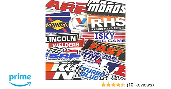 Amazon.com: Racing Decal Sticker 26 Piece Assortment Pack in Pairs Fender Contingency Size By Crash Daddy: Automotive