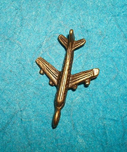 - 1 Piece of Pendant Airplane Charm Bronze Airline Hostess Pan Am Vacation Pilot Flying Love