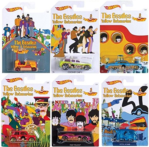 Hot Wheels - Yellow Submarine - Limited Edition Set of 6 Diecast -