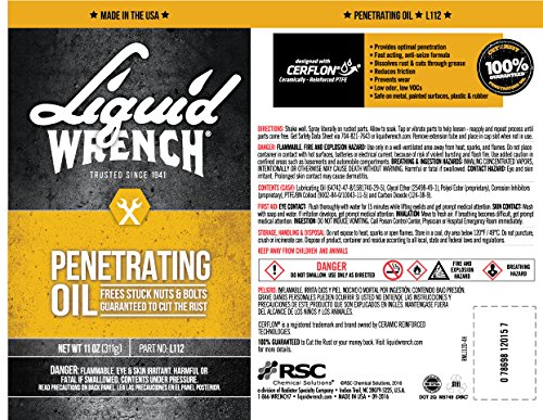 Liquid Wrench L112-12PK Liquid Wrench Penetrating Oil (12/11Oz) by Liquid Wrench (Image #2)