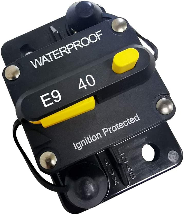 (40)Amp Circuit Protector Hi-Amp Typ Circuit Breaker mit Manual Reset,12V- 48Vdc, Wasser Resistant (40A)