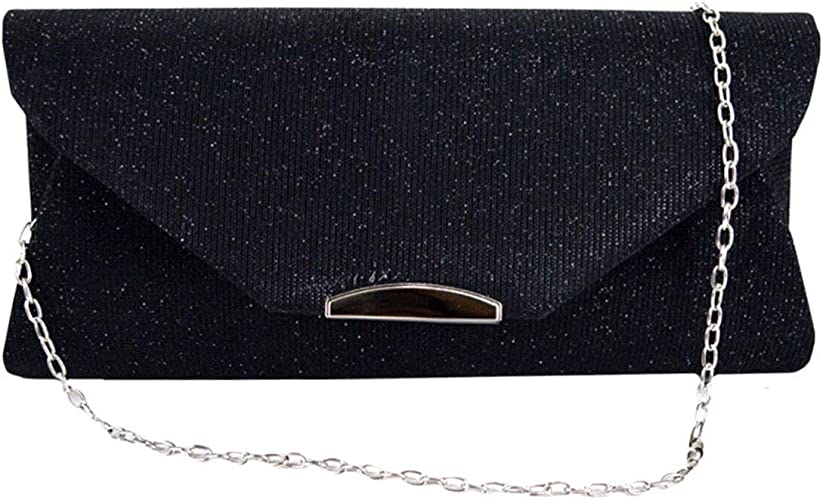 Clutch Purse Women Evening Bag Elegant Small Clutch Bag Prom Shoulder Bag Cross-Body Bags with Wristlet and Adjustable Strap Handbag Purse for Cocktail Party Wedding Bag Frosted Handbag Party