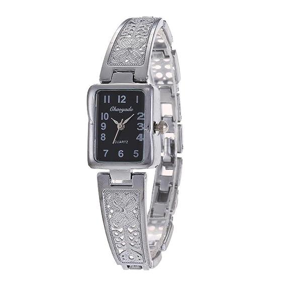 YAZILIND de cuarzo reloj de pulsera rectangular dial reloj de titanio pulsera de acero exquisito reloj