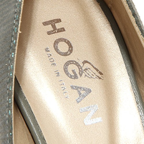 85758 decollete donna zeppa HOGAN sandal Verde spuntata Beige women shoes fUxgrqfw
