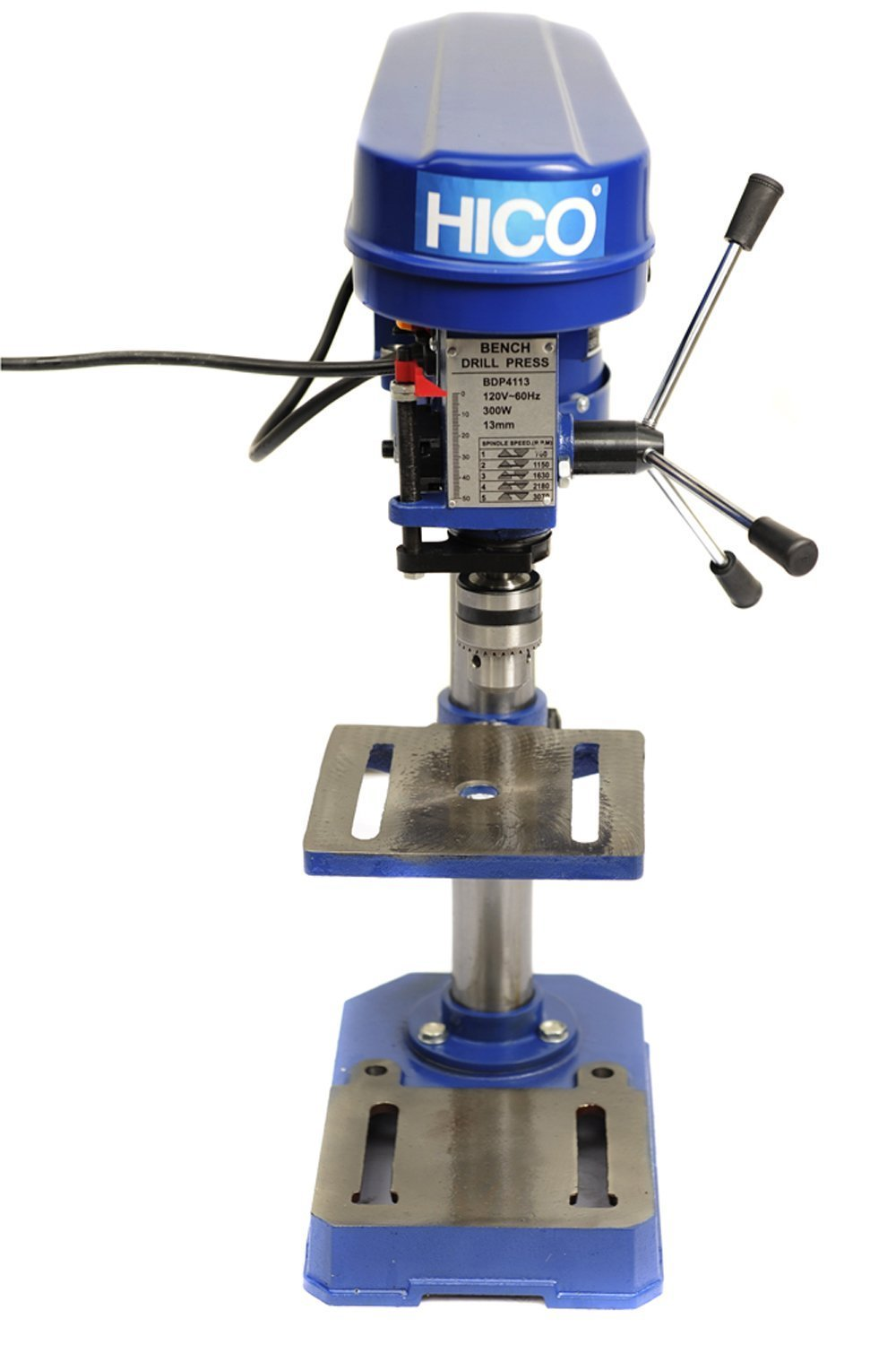 HICO Bench Top Drill Press - 8 Inch Adjustable Height, 5 Speed Motor, Cast Iron Table DP4113 by HICO (Image #4)