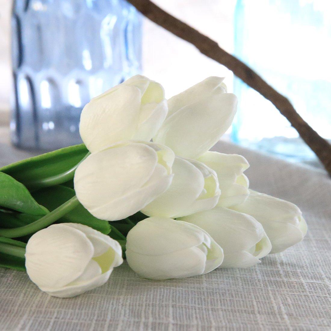 Veryhome Fiore Artificiale Fiore Finto Tulipano Materiale in Lattice Vero  Tocco Matrimonio Stanza Famiglia Alberghi Festa 933c2c8fca9
