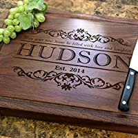 Housewarming Personalized Engraved Chopping Block - Housewarming Gift, Closing Gift, Real Estate Closing Gift, Gift for Couples, Family. #301