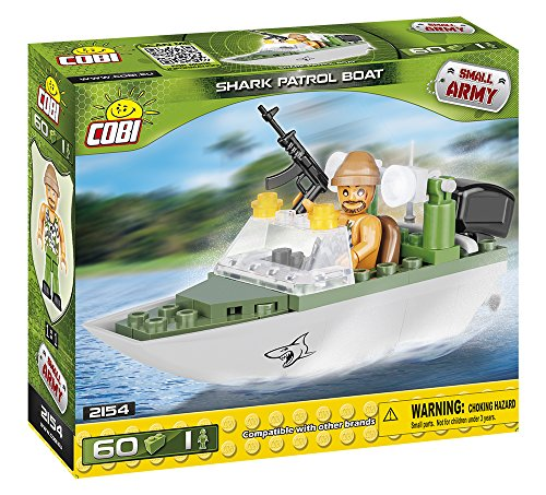 COBI Small Army Shark Patrol Boat Model Building Kits (60 Piece), ()