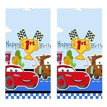 Amazon.com: Disney Cars 1er Cumpleaños Champ – Mesa de ...