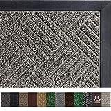 pictures of front doors Gorilla Grip Original Durable Rubber Door Mat (35 x 23) Heavy Duty Doormat for Indoor Outdoor, Waterproof, Easy Clean, Low-Profile Rug Mats for Entry, Patio, High Traffic Areas (Gray Diamond)