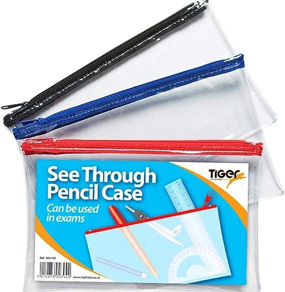 Tiger - Estuche transparente para lápices (20 x 12 cm, 1 unidad): Amazon.es: Bricolaje y herramientas