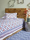 Le Chateau Tile ~ French Country Rustic White Twin Bedspread 70x90
