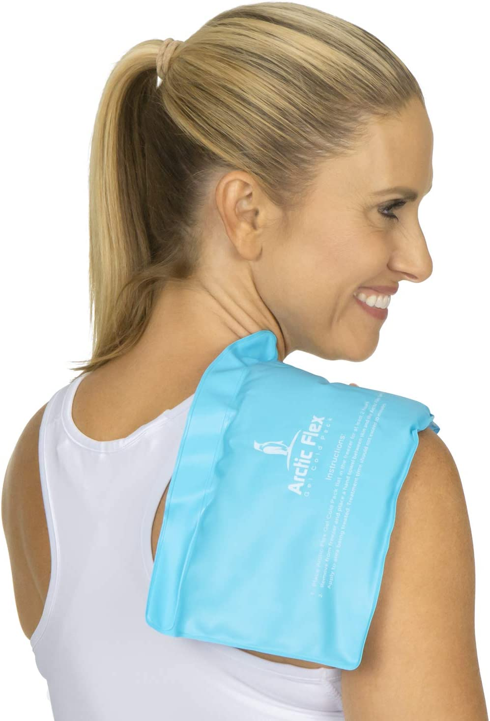 Arctic Flex Flexible Ice Pack - Reusable Large Hot and Cold Gel Therapy Bag - Medical Freezer Pad - Soft Heated Compress Wrap for Migraine, Knee, Neck, Shoulder, Back, Foot, Hand, Ankle Swelling