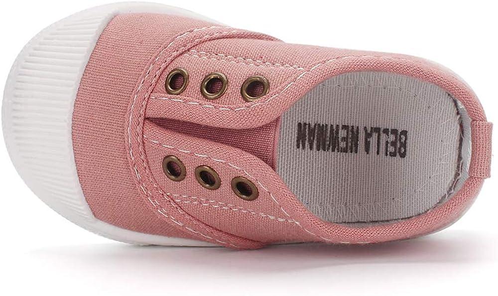 LACOFIA Chaussures de Toile pour B/éb/é Gar/çon Fille Basket /école de Sport pour Mixte Enfant