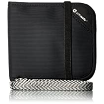 Pacsafe RFIDsafe V100 Anti-Theft RFID Blocking Bi-Fold Wallet, B