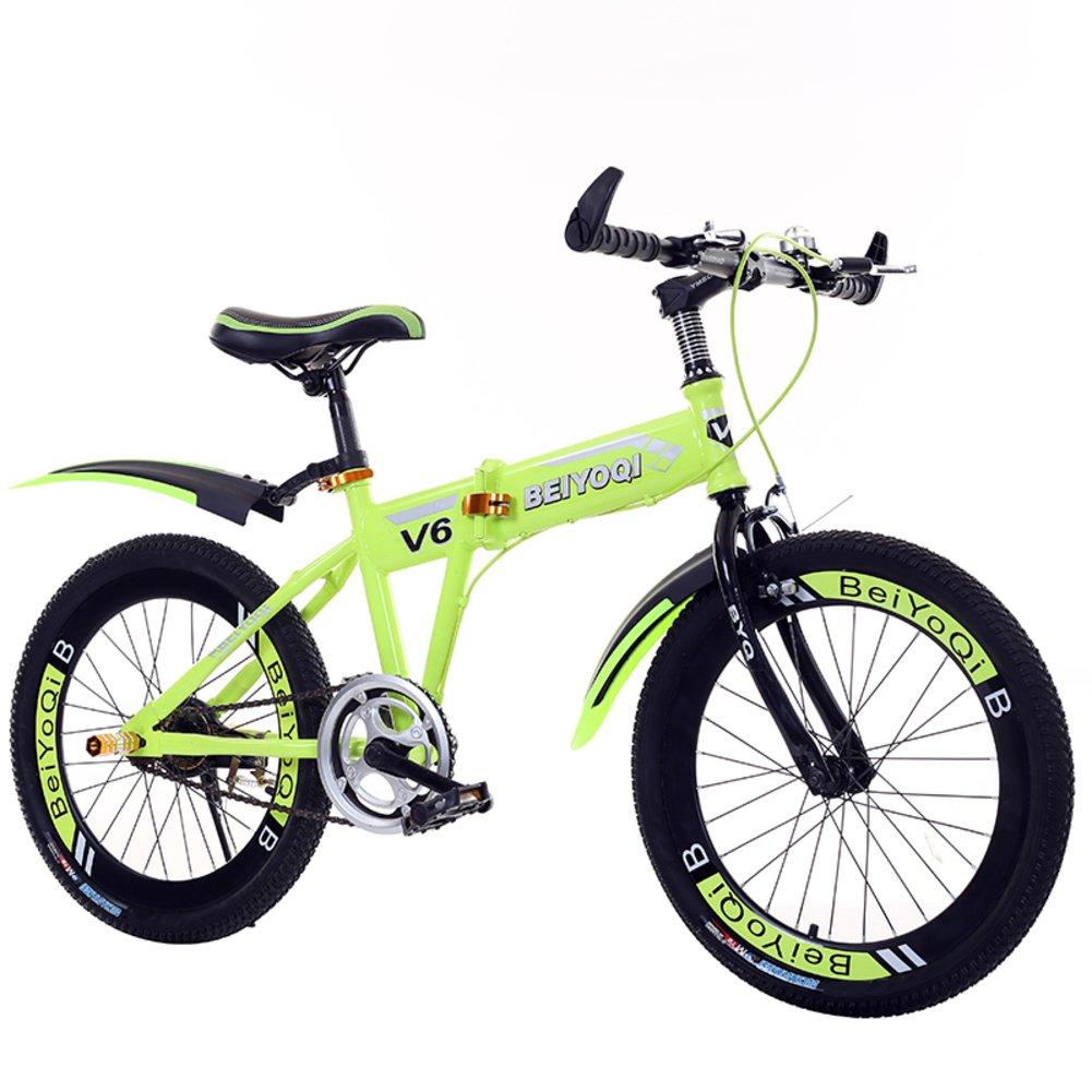 子供用折りたたみ自転車, 学生折りたたみ自転車 子供の折りたたみ自転車 マウンテン バイク 少年少女 折りたたみ自転車 B07DK9S4DK 20inch 黄 黄 20inch