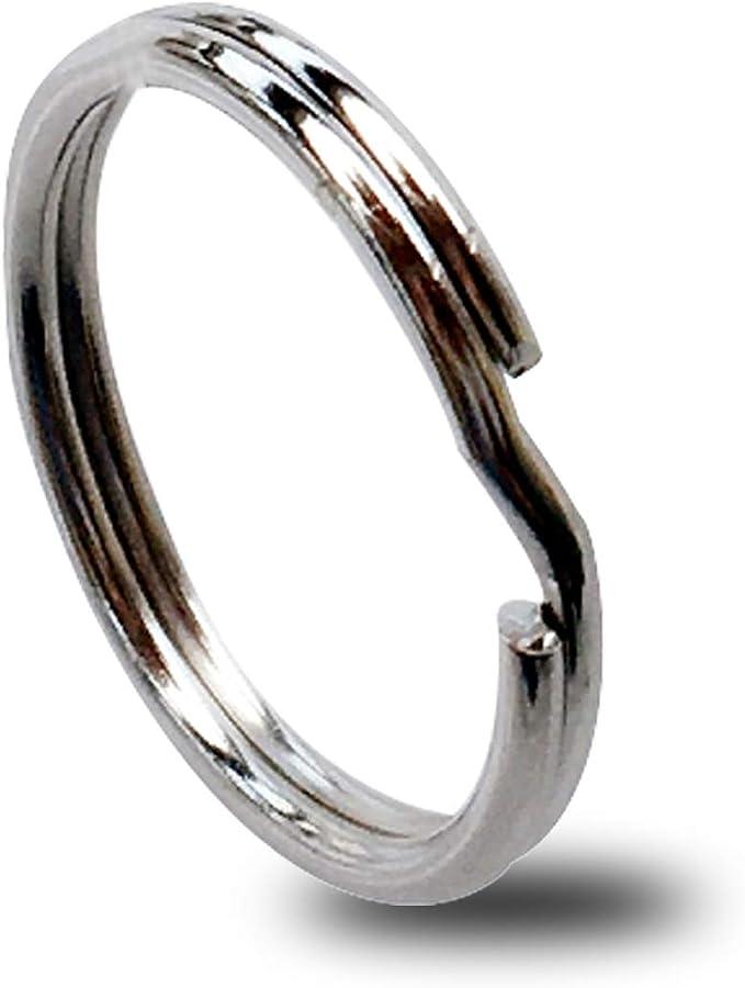 """long 2 1//8/"""" Free Shipping 30PCs Silver Tone Key Chains Key Rings 53mm"""