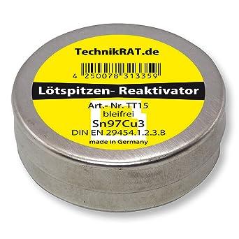 Reactivador de punta de soldadura TechnikRat sin plomo 15 g de estaño TT15