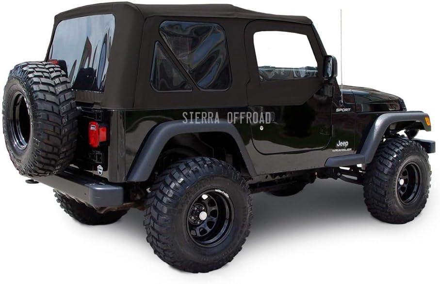 Sierra Offroad Jeep 2003-2006 Soft Top, Sailcloth Vinyl, Black