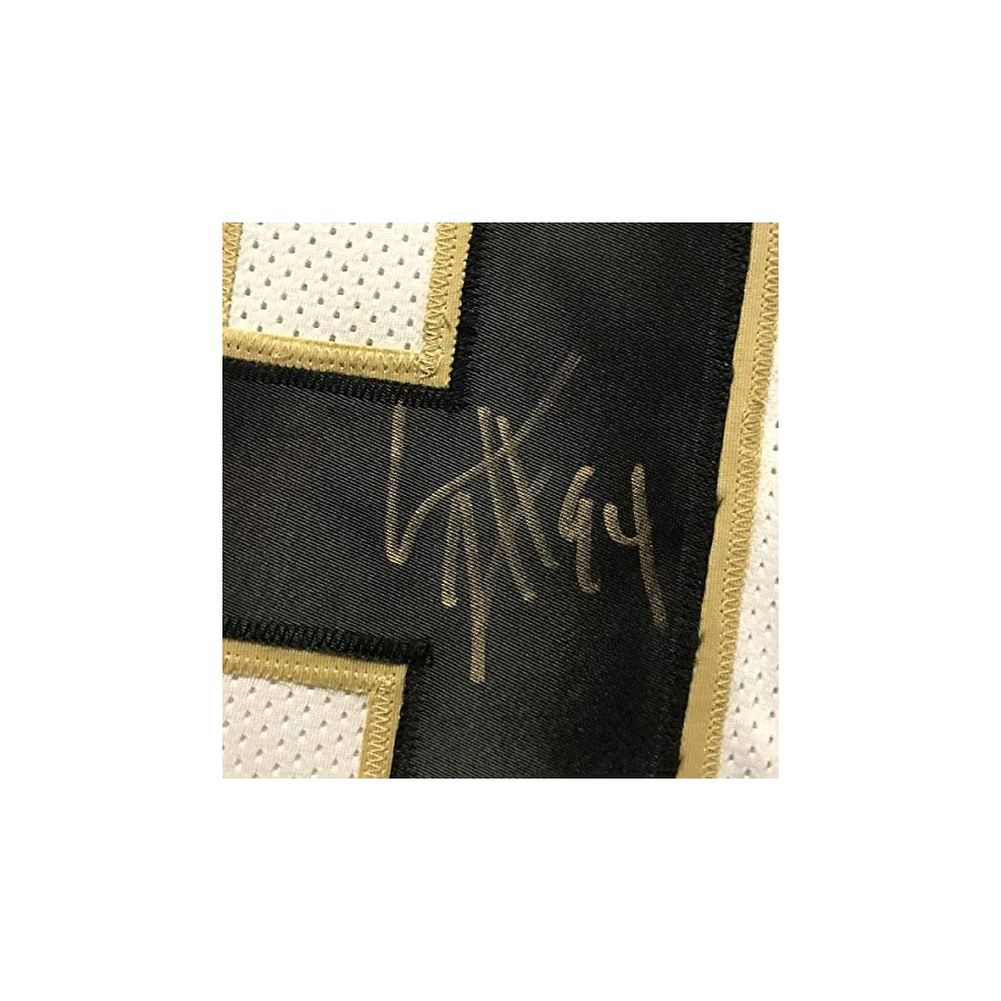 Autographed/Signed Cameron Cam Jordan New Orleans Saints White Football Jersey JSA COA