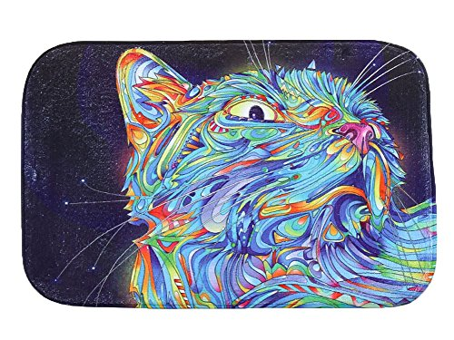 LivebyCare Cat Theme Doormat Decorative Soft Washable Non-Slip Indoor Inside Door Mat Entry Carpet Decor Front Entrance Floor Home Decor Rug Living Room Hallway Kitchen Bathroom -