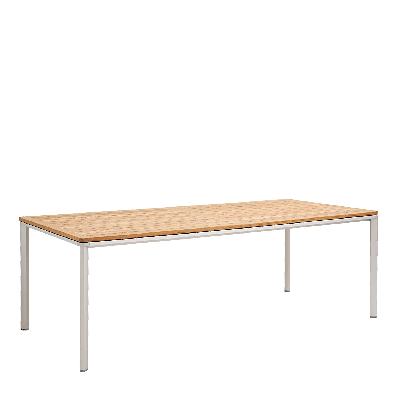 Garpa Aluminium Table 220 X 100 Teak Amazoncouk Garden