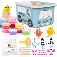 36 Colors Air Dry Clay Kit for Kids, Magic Modeling Clay Ultra Light Clay with Carton Storage Box, Sculpting Tools…