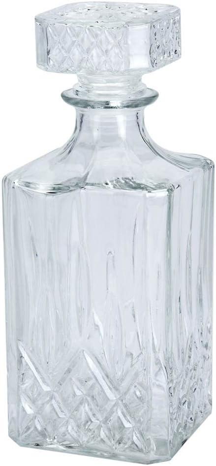 EI Clásica 900ml 0,9litros Jarra–Jarra de Cristal Whisky coñac Botella Whisky Licor Vino Botella
