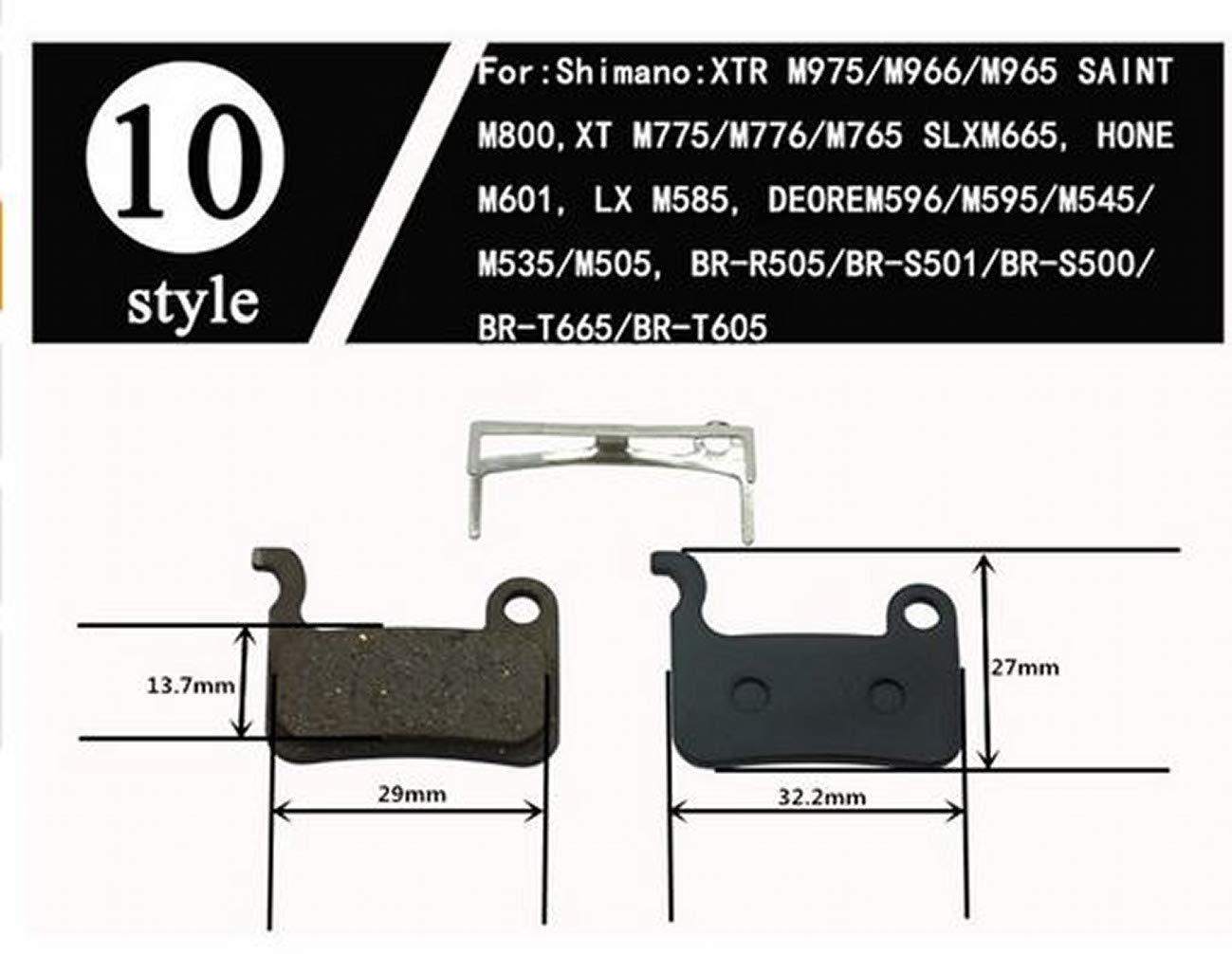 SLX Les Plaquettes de Frein Pads de Disque ARUNDEL SERVICES EU 2 Paires VTT Plaquettes de Freins hydrauliques /à Disque pour Shimano Deore XT//R M975 // M966 // M965 Saint M800 XT M775 // M776 // M765