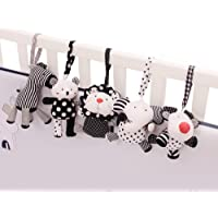 Shiloh Baby Crib Stroller Carseat Decoration Soft Mobile 5PCS (Zoo Animals)