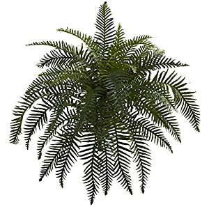 "Nearly Natural 6119-S2 26"" River Fern (Set of 2) Artificial Plant Green 99"