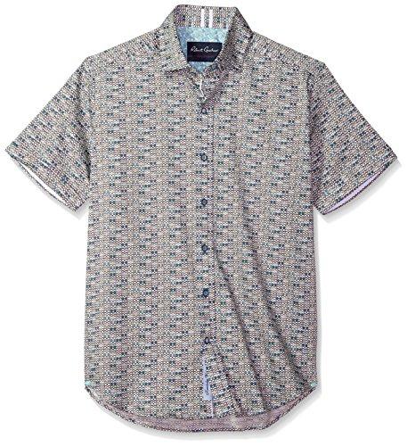 Robert Graham Men's Colton S/s Tailored Fit Woven Sport Shirt, White, - Robert Sunglasses